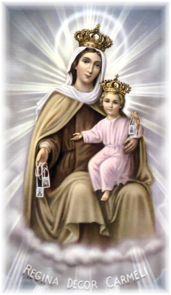 The Brown Scapular of Our Lady Of Mount Carmel